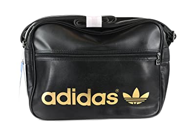 Unisexe Noir Airline Or Adidas Sacoche Heritage Bandouliere YymIb67gfv
