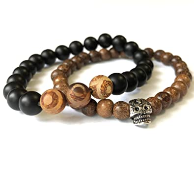 Amazon.com: Agar Creations - Set of 2 Mala Bracelets ...