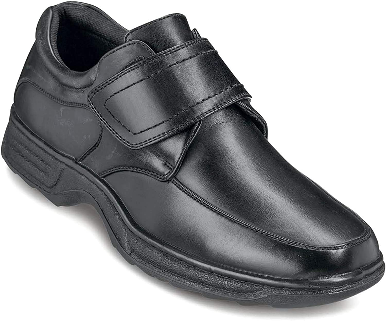 Cushion Walk Mens Touch Fasten Wide Fit Shoe with Gel Pad