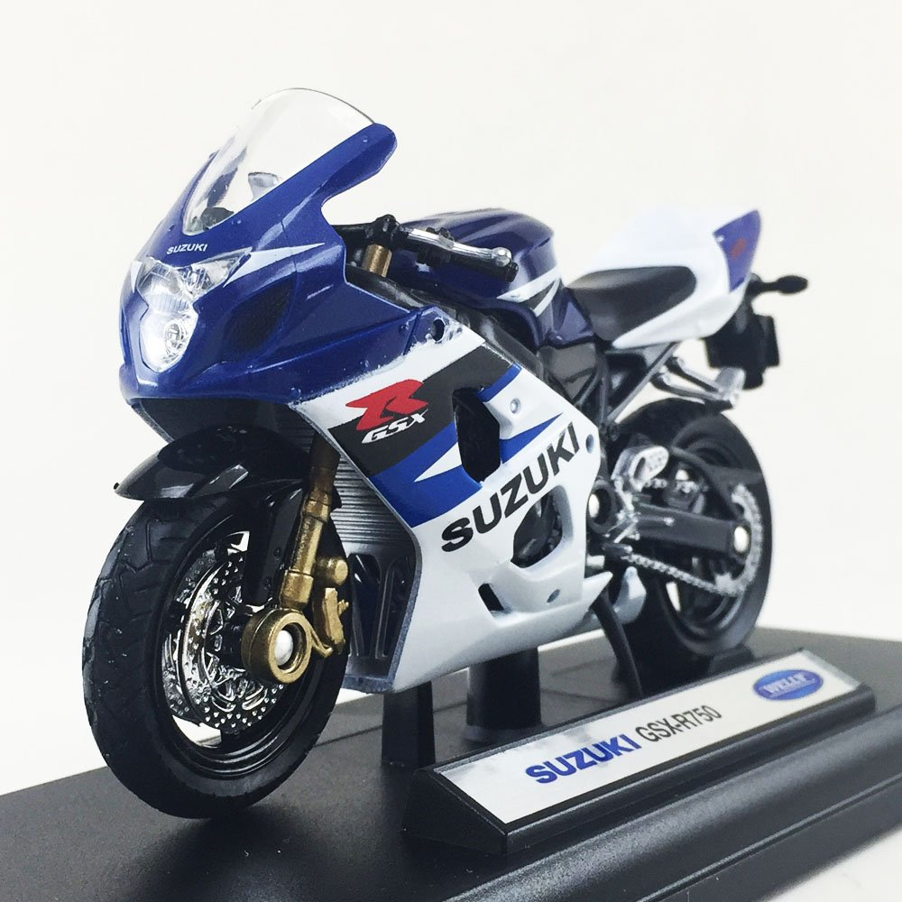 Amazon.com: Suzuki GSX-R750 Welly escala 1: 18 motocicleta ...