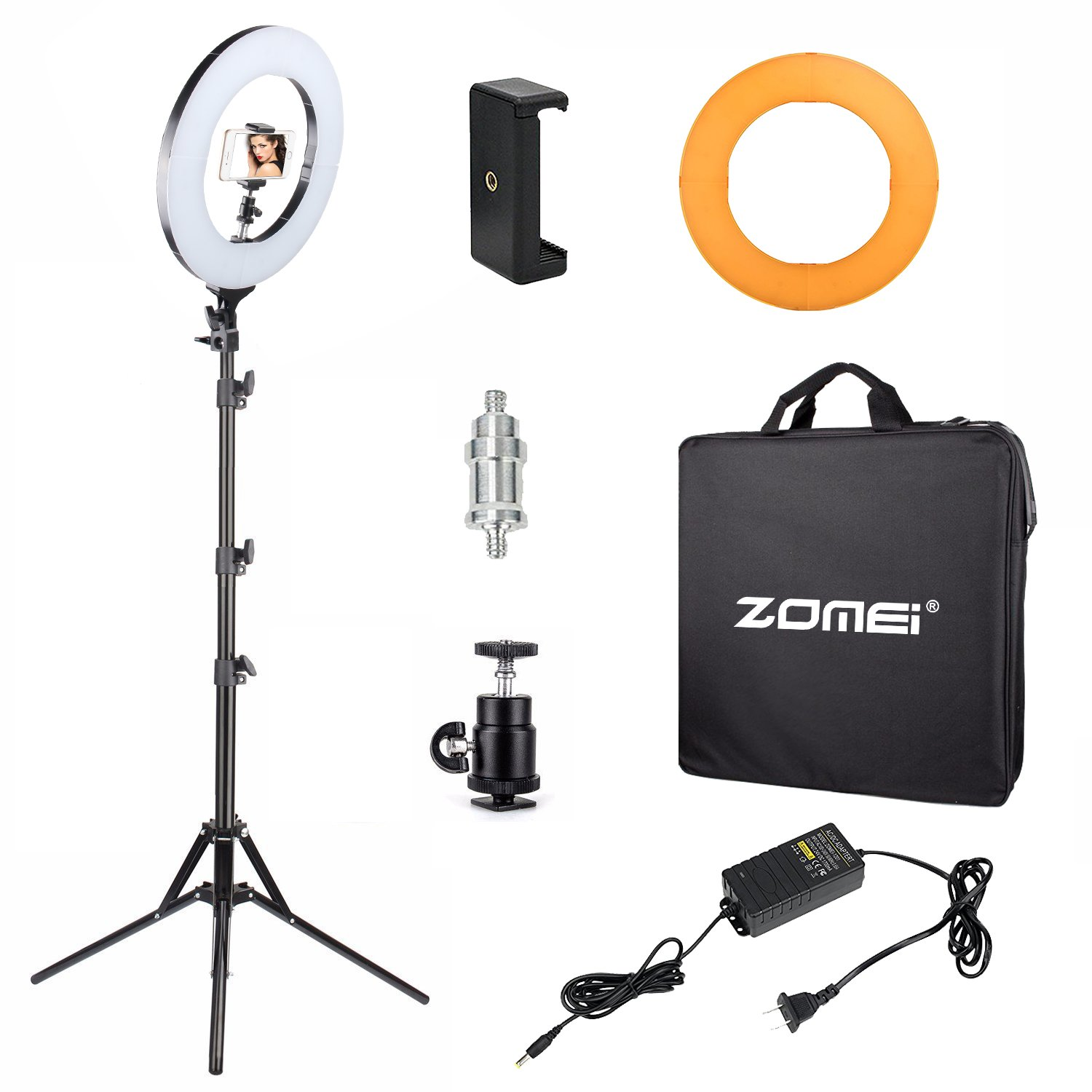 Ring Light Stand Ebay: Zomei 14-inch Dimmable Ring Light Lighting Kit Light Stand