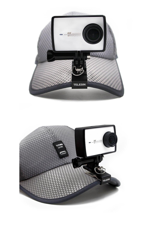 Xiaomi YI SJCAM Cameras TELESIN Multi Functional Aluminum Alloy Cap Clip Baseball Hat Clamp Mount Backpack Clip for GoPro Hero 2018 Fusion Hero 6//5 Black Hero 3 Hero 4 Hero 4 and Hero 5 Session