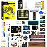 KEYESTUDIO Raspberry Pi 4 Ultimate Starter Kit with Stepper Motor, Ultrasonic Sensor, Learn Electronics and Programming…