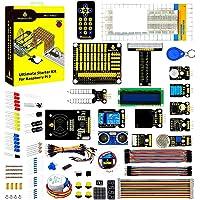 KEYESTUDIO Raspberry Pi 4 Breadbaord Kit with Stepper Motor, Ultrasonic Sensor, Learn Electronics and Programming…