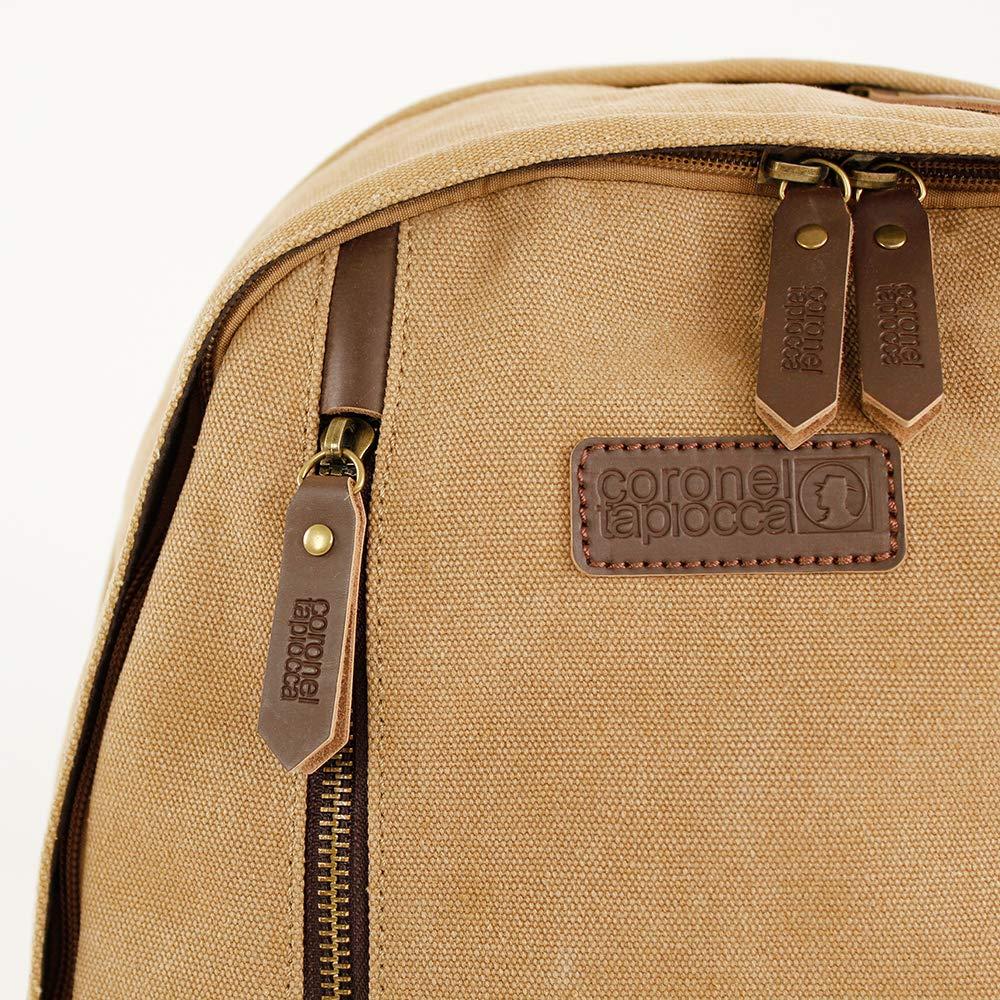 Coronel Tapiocca Mochila hombre estilo Explorer color marrón 14 x 44 x 31 cm: Amazon.es: Zapatos y complementos