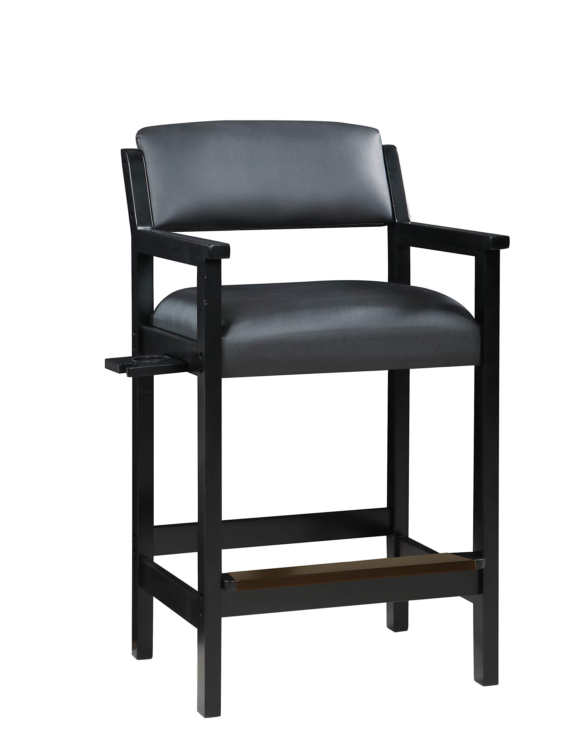 Hathaway Cambridge Spectator Chair, 22'' L x 26.8'' W x 44.5'' H, Black