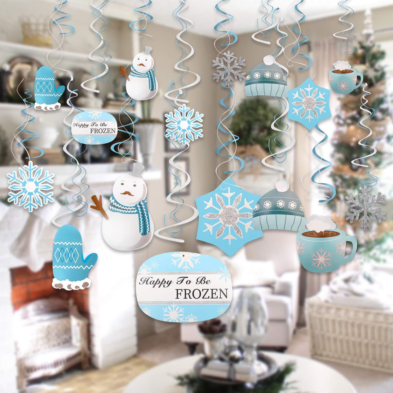HOWAF 30 Piezas Navidad Copos de Nieve decoración Navidad ...