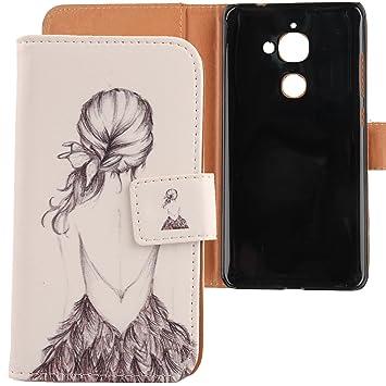 LANKASHI Back Girl Design PU Flip Billetera Funda De Carcasa Cuero Case Protective Cover Piel para LeTV LeEco Le2 / Le 2 Pro/Le S3 5.5