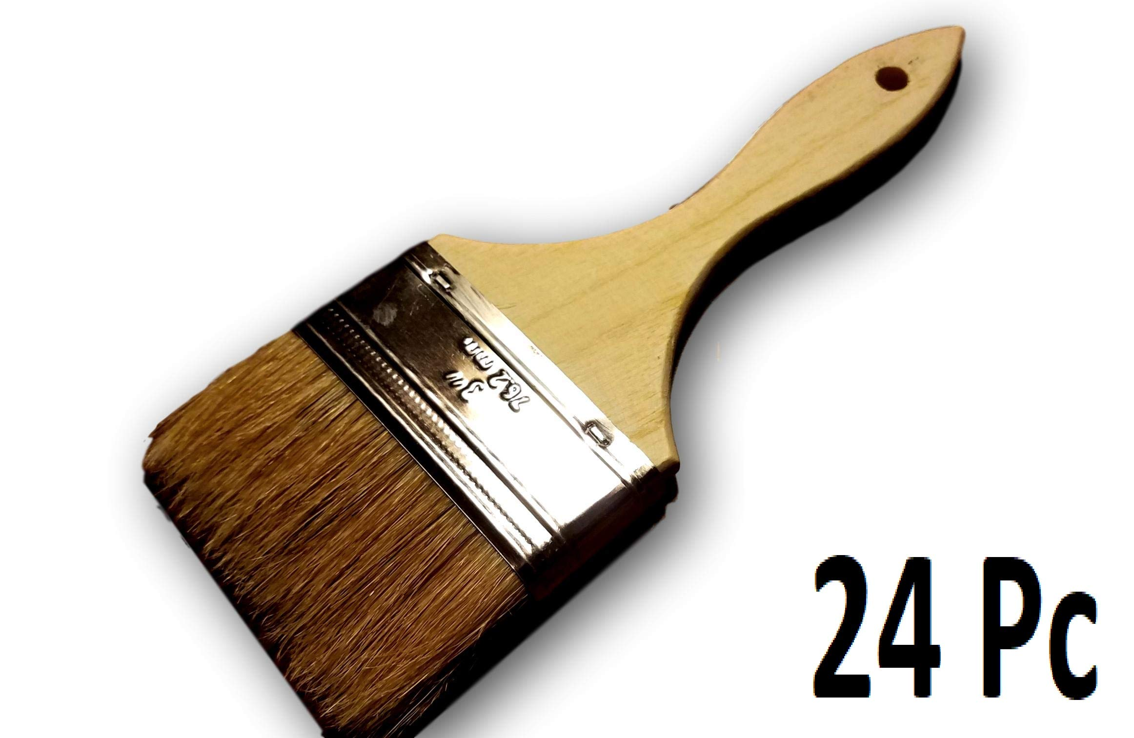 Chip Brushes Bulk 24 Pc of 3'' Brush Perfect for Adhesives Paint Touchups