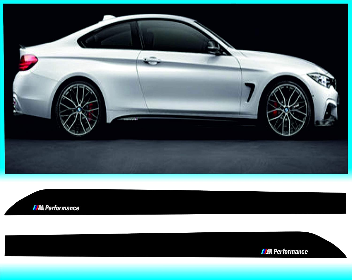 2PCS for BMW Car Decals Window Decal Performance Sports Decal Motorsport Sticker