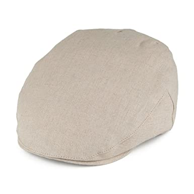 53b534f5 Christys Hats Balmoral Linen Flat Cap - Putty X-LARGE: Amazon.co.uk ...