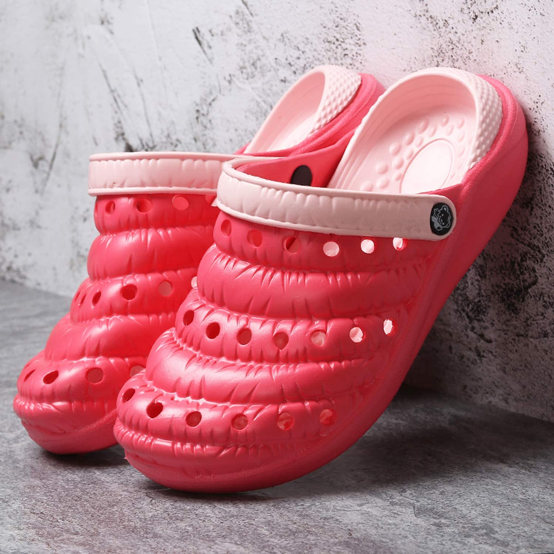 MOOKEY Garden Clog Shoes Beach Footwear Pool Bath Home Mens Womens Summer Lightweight Non-Slip Breathable Slippers Sandals