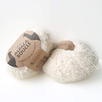Alpaca Boucle - 0100 off white (Drops knitting and crochet