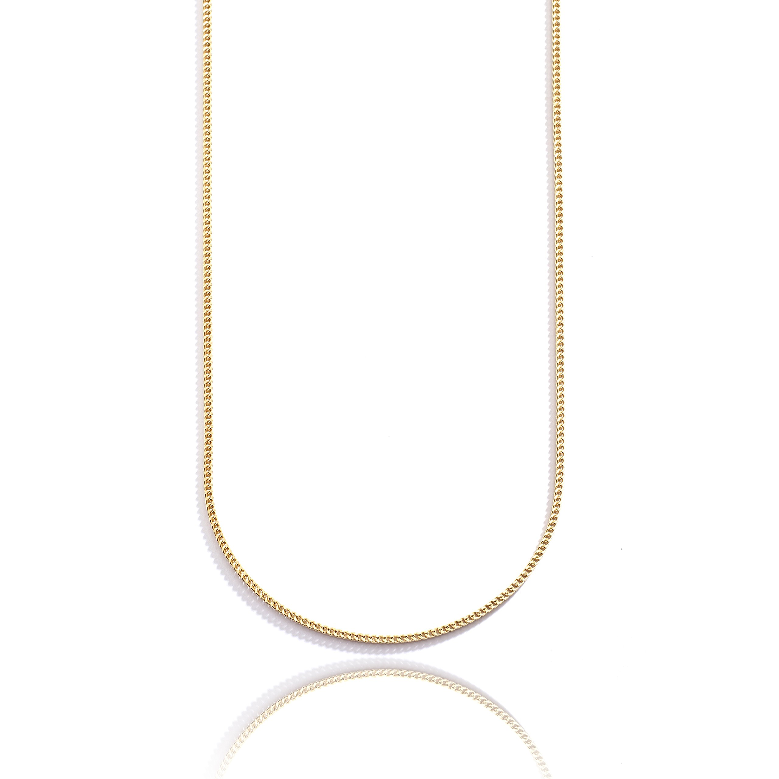 30 Inch 10k Yellow Gold Hollow Franco Chain Necklace with Lobster Clasp for Women and Men, 2.2mm