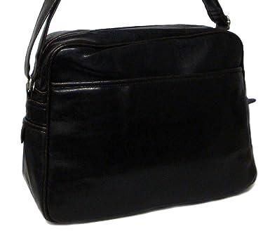 dca31cd885c Lonsdale Black Satchel Messenger Bag - Black - UK SIZE 1  Amazon.co ...