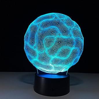 Zcxbhd Lampe table cerveau 3D lampe Eco LED lampe chevet