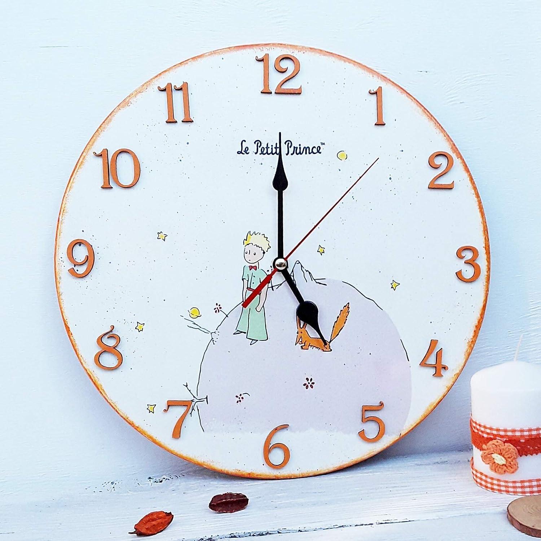 Little prince decoupage wall clock nursery decor