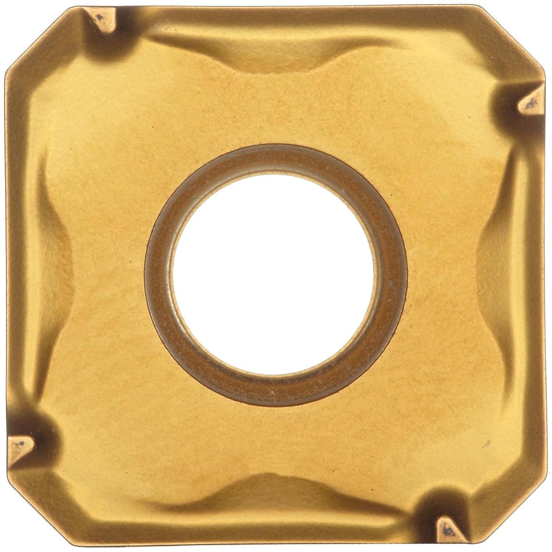 Square Sandvik Coromant COROMILL Carbide Milling Insert Wiper 345N1305EKW8,0.22 Thick Pack of 10 Multi-Layer Coating 345N Style 0.039 Corner Radius K20W Grade