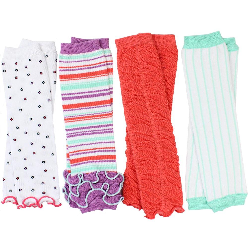 juDanzy 4-pack baby & toddler leg warmers gift set for boys & girls (Newborn, Sweet Shop) by juDanzy