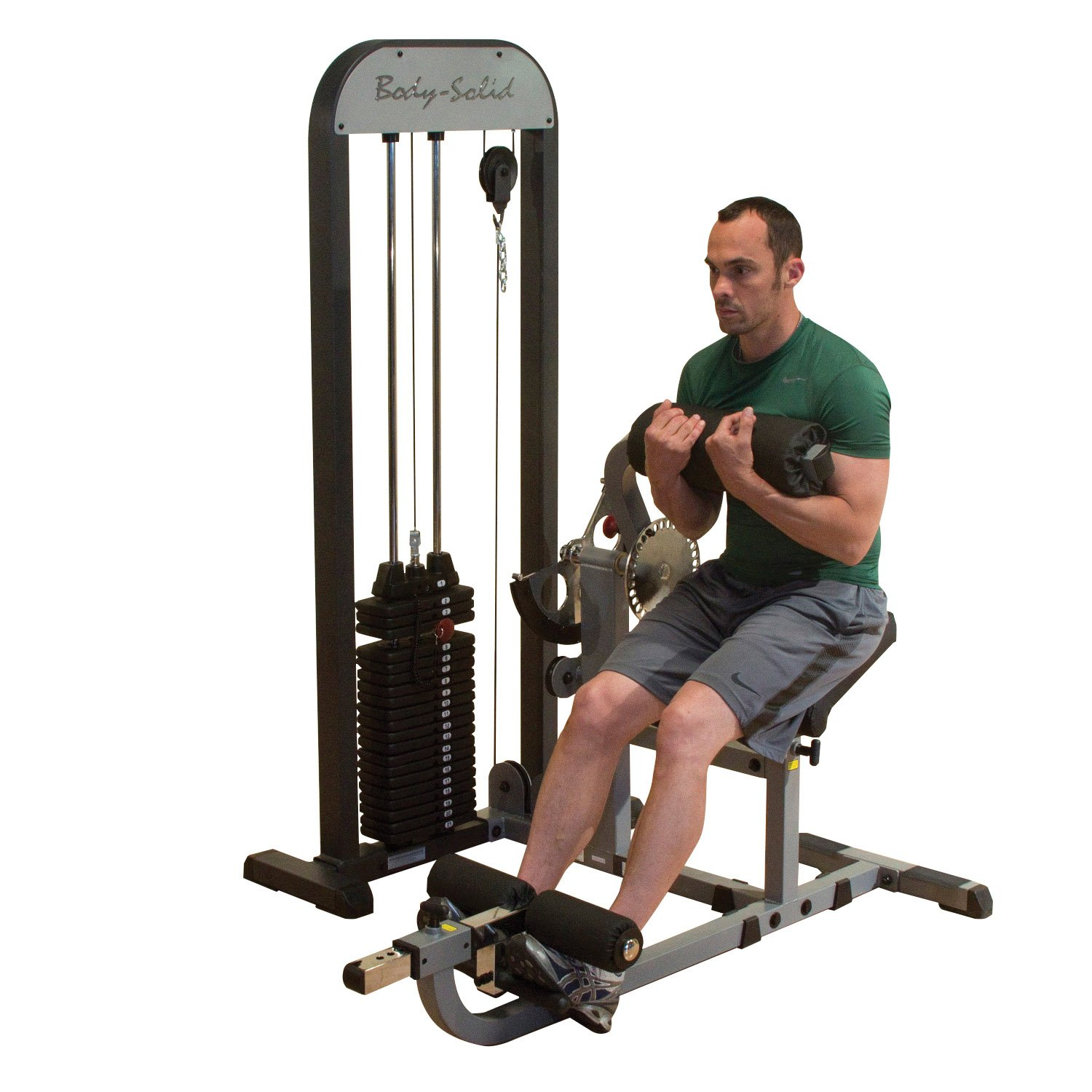 Body Solid GCABSTK Pro Select Ab and Back Machine with DuraFirm Padding and Adjustable Cam 210-Pound