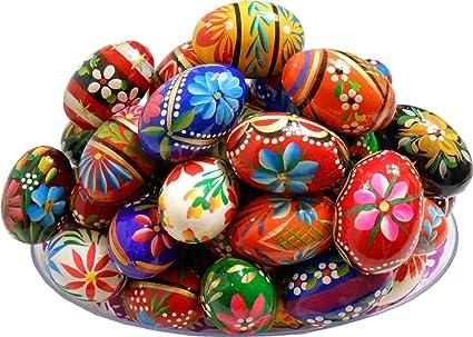 Amazon Com Polish Easter Handpainted Wooden Eggs Pisanki Set Of