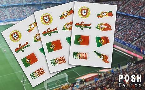 Banderas Tattoo | Fútbol Flash Tatuajes para Alemania Francia Austria España Italia | Fan Artículo | diferentes países disponibles: Amazon.es: Belleza