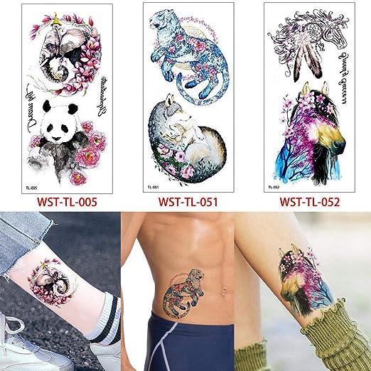 adgkitb 3pcs Etiqueta engomada del Tatuaje Animal Etiqueta ...