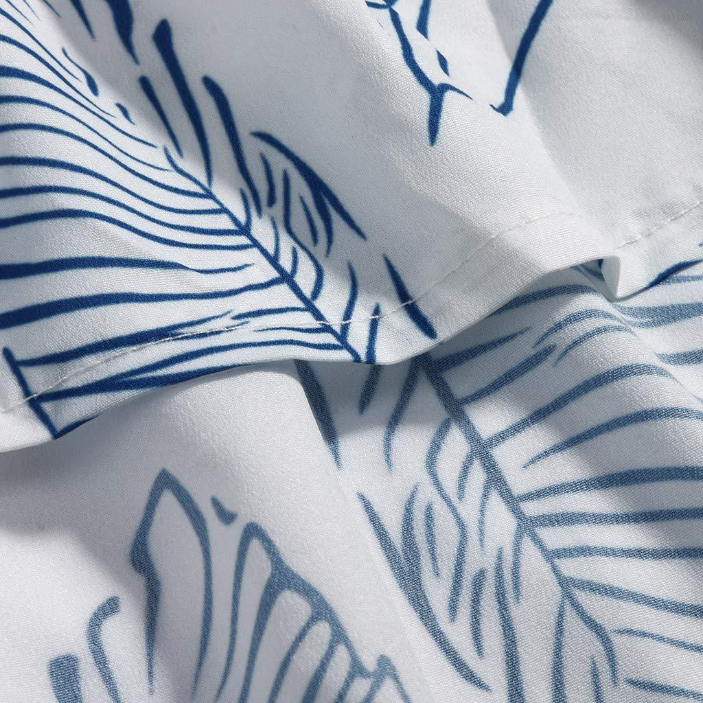 ❤️❤️ Women's Ruffle Tie Summer Boho Spaghetti Strap Semi-Backless Button Down A-Line Midi Dress with Belt Blue by HTHJSCO-Dress (Image #6)