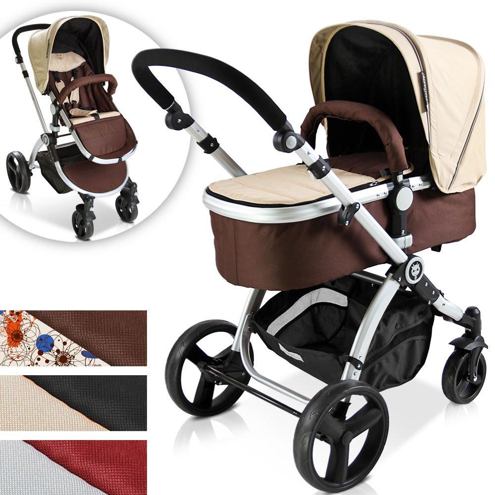 Cochecito 2 en 1 Portabebés y asiento Sport – Asiento reversible Face ruta/Face Parent – lavable – plegable – con cesta – varios colores para elegir ...