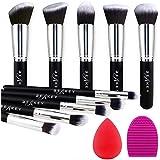 BEAKEY Makeup Brush Set, Premium Synthetic Foundation Face Powder Blush Eyeshadow Kabuki Brush Kit, Makeup Brushes with Makeu