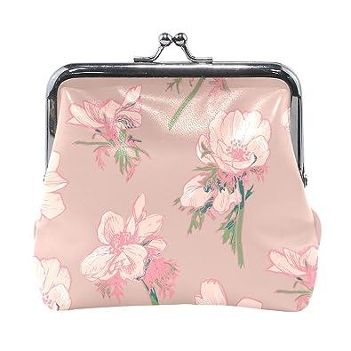 Amazon.com: Monedero pequeño con diseño floral rosa para ...
