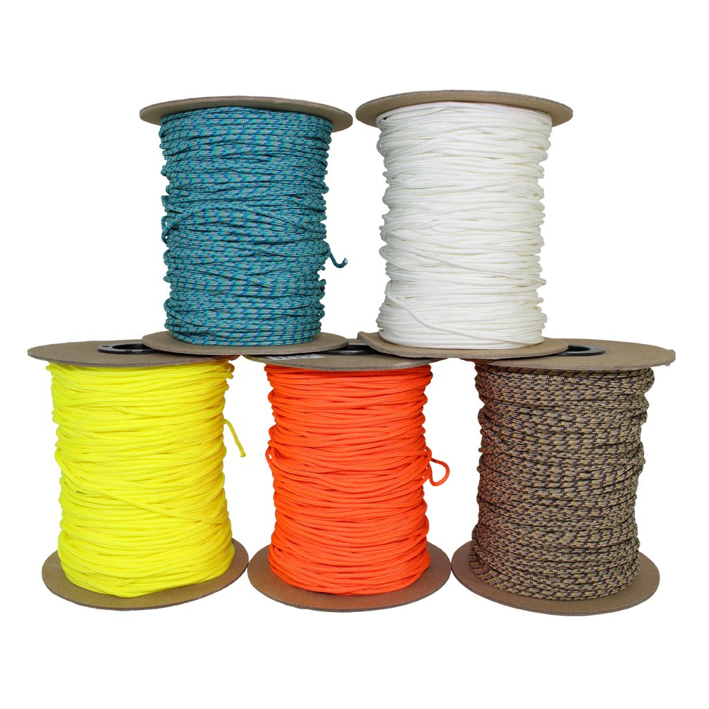 SGT KNOTS Spectra Cord (2.2mm) Speargun Line - Fishing Line - All-Purpose Utility Cord - for Tie-Downs, Gear Bundles, Boot Laces, Camping, Survival, Marine, More (300 Feet Spool - Neon Orange) by SGT KNOTS (Image #1)