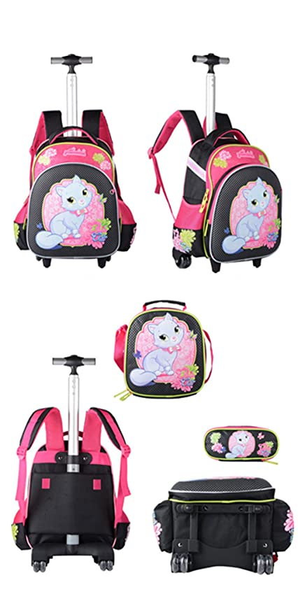Amazon.com | Kids Rolling Backpacks Trolley School Bag Wheeled Waterproof Removable luggage | Kids Backpacks