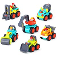 Zest 4 Toyz Unbreakable 6 Pieces Baby Toys Mini Construction Vehicle Cars - Forklift, Bulldozer, Road Roller, Excavator, Dumper, Tractor Toys for Kids