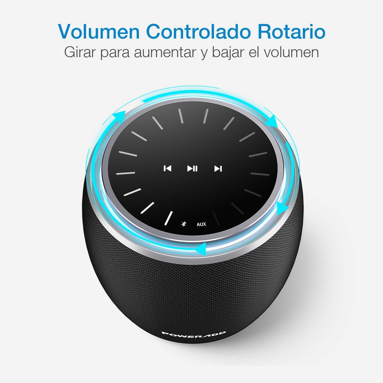 POWERADD DEE-G Altavoz Inalámbrico, Bluetooth 4.2, con 13W*2 y 5W*2 Altavoces,Compatible con los Dispositivos de Bluetooth, con Aux Cable.