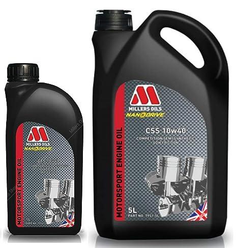 Millers CSS 10W40 Motorsport - Aceite Semi sintético para Motor, 6 litros