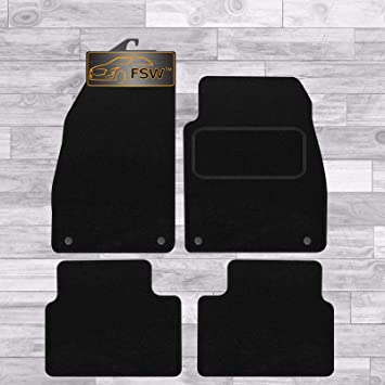 BLACK WITH GREY BINDING VAUXHALL INSIGNIA 2008-2013 FULLY TAILORED CAR MATS