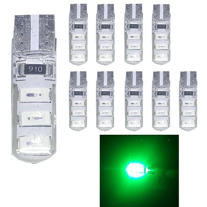 1 opinioni per Ruesious, confezione da 10 lampadine, modello 501W5W, con LED bianco T106 SMD