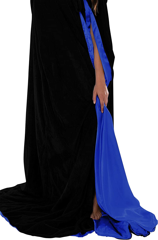 Artemisia Designs Lined Velvet Medieval Renaissance Hooded Cloak Adult Cape