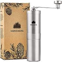 Groenenberg Manuell kaffekvarn | justerbar hand kaffe bönkvarn | keramisk slipmaskin | rostfritt stål | bärbar…
