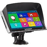 Xgody Bluetooth 7 Inch 256RAM 8GB ROM 826 Car Truck GPS Navigation System with Sun Shade Capacitive Touchscreen SAT NAV Navigator with Lifetime Maps Update (826BT+SC)