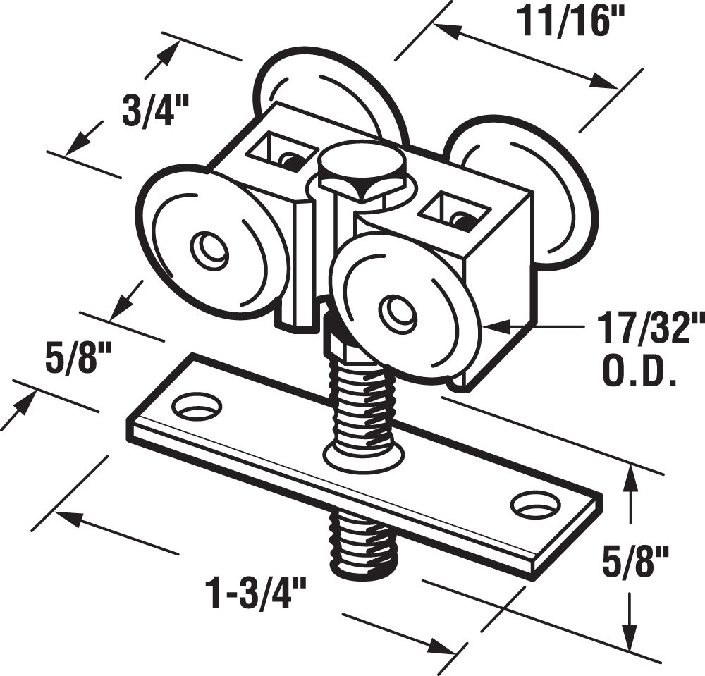 The Hillman Group 190492 Hex Bolt 3//4-Inch X 2-Inch 20-Pack