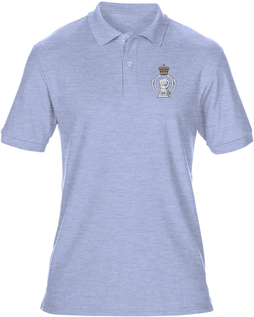 Military Online Royal Armoured Corps Embroidered Logo Official British Army Mens Polo Shirt by