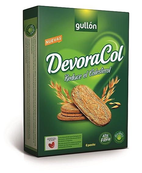 Gullón Devoracol Go Galleta Desayuno y Merienda para Reducir el Colesterol - Paquete de 6 x