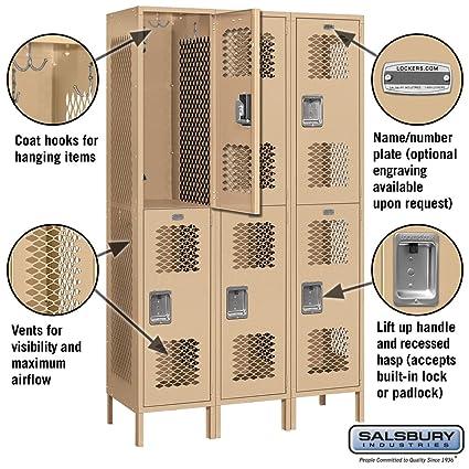Amazon.com: Salsbury Industrias 82368tn-u doble Tier 45-Inch ...