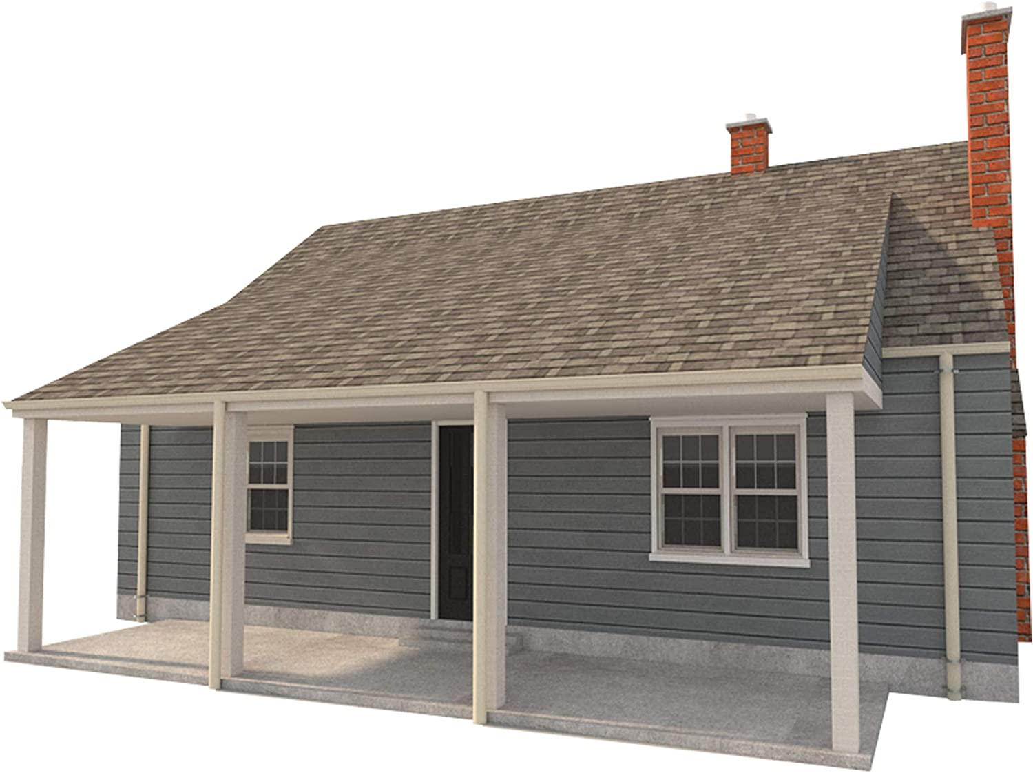 2 Story Farmhouse Plans DIY 3 Bedroom Farm Home 832 sq//ft Build Your Own
