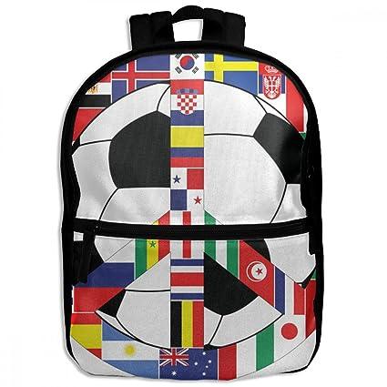 Amazon Com Chunlei Child School Bag World Flag Football Peace Cool