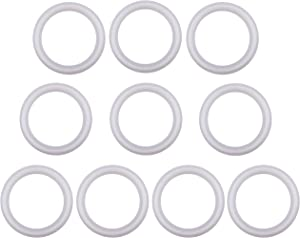 Silicon Tri clamp Gasket for Tri Clover Fittings O-Ring- 2 inch, (Pack of 10)