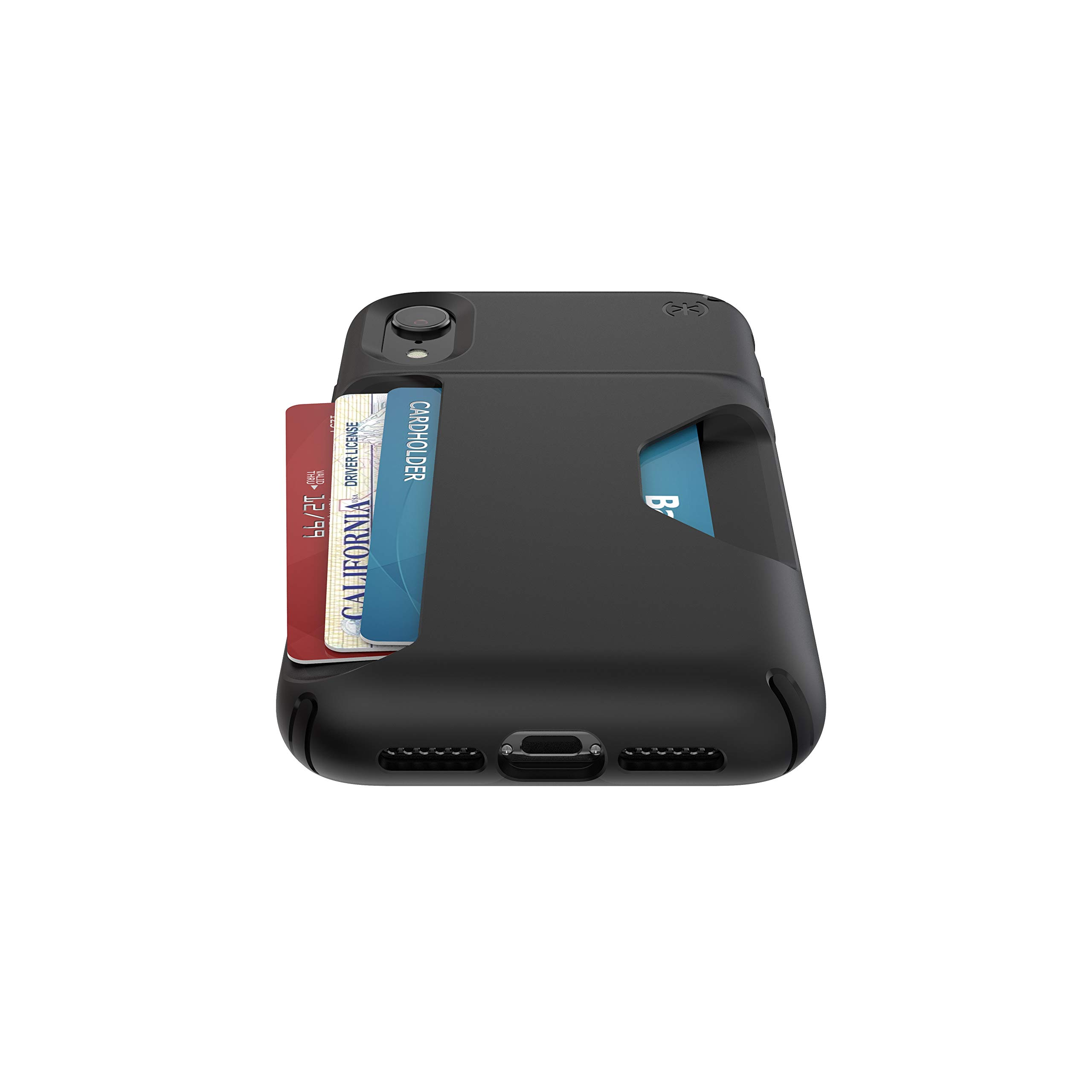 Speck Products Presidio Wallet iPhone XR Case, Black/Black by Speck (Image #3)