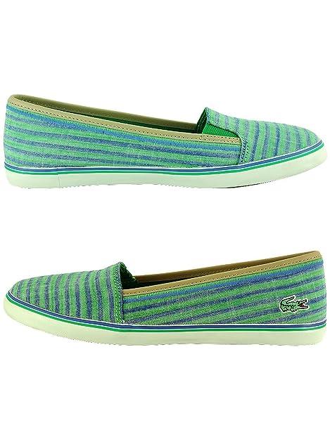 Lacoste - Mocasines para mujer, color verde, talla 41: Amazon.es: Zapatos y complementos